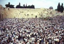 Jewish Worshippers at Western Wall
